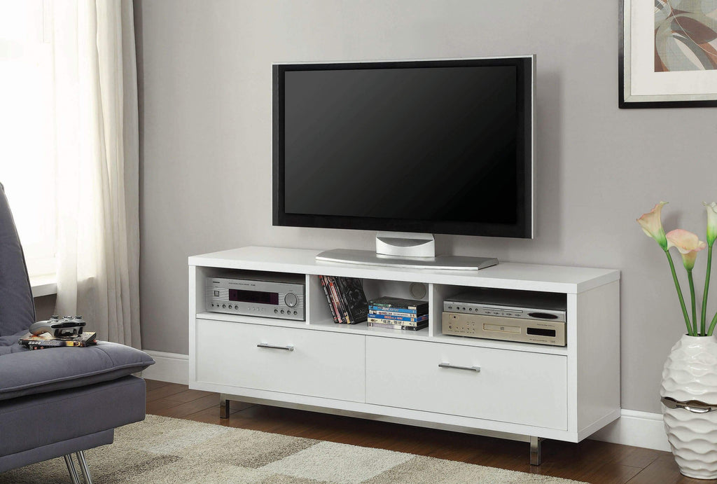 Transitional Cappuccino TV Console - What A Room Furniture
