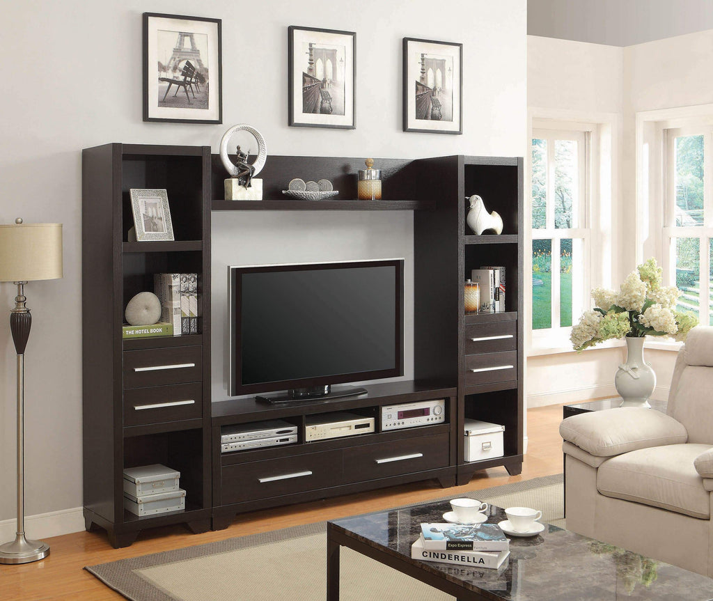 Casual Cappuccino Media Tower - What A Room Furniture