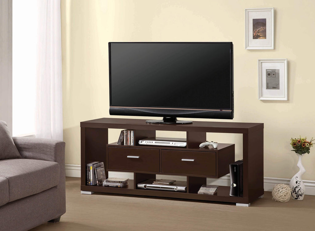Modern White TV Console - What A Room Furniture