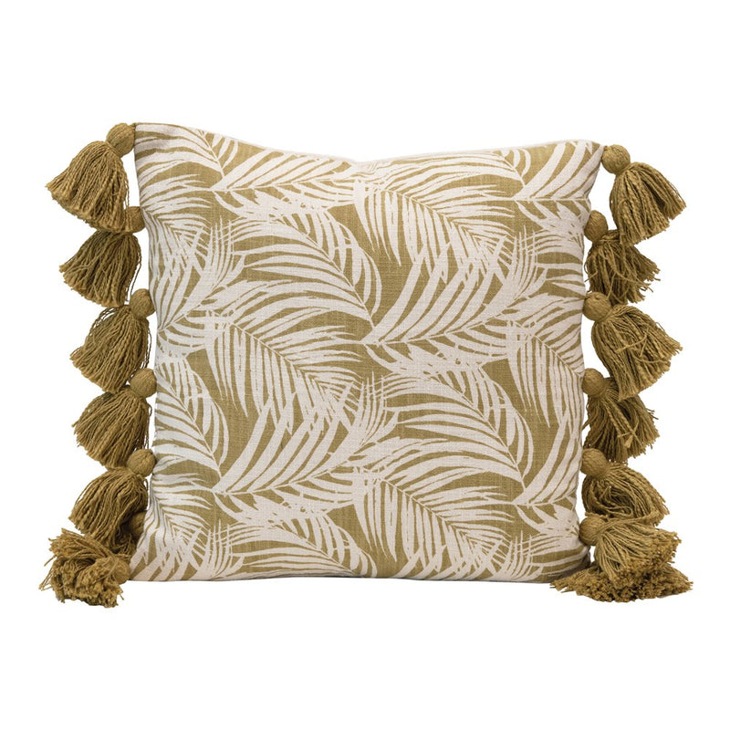 "18"" Sq Cotton Pillow, Fern - What A Room"