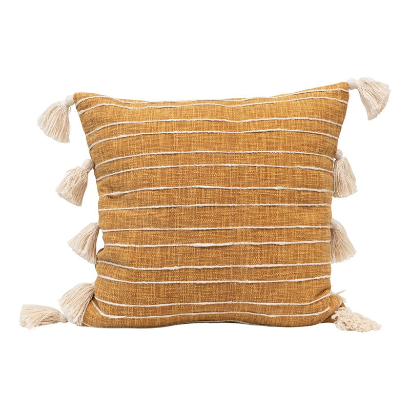 "22"" Sq Cotton Pillow w - What A Room"