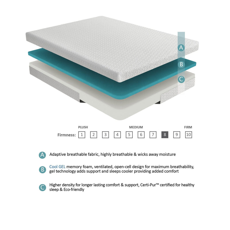 8'' Gel-Infused Memory Foam
