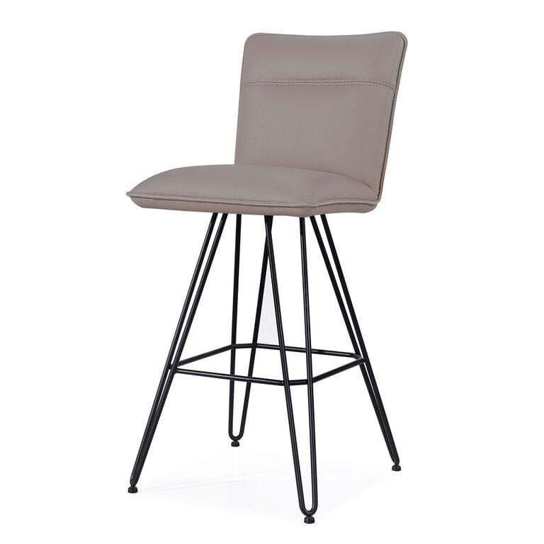 Demi Hairpin Leg Swivel Bar Stool in Taupe - What A Room