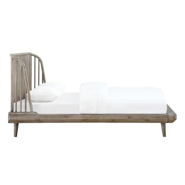 Spindle Solid Wood Platform Bed in Antique Mocha - What A Room Furniture