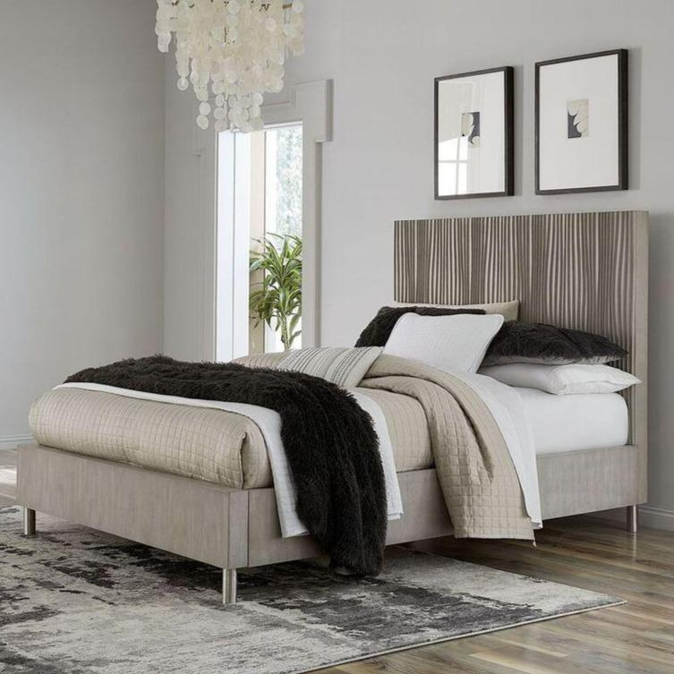 Argento Bed in Misty Grey