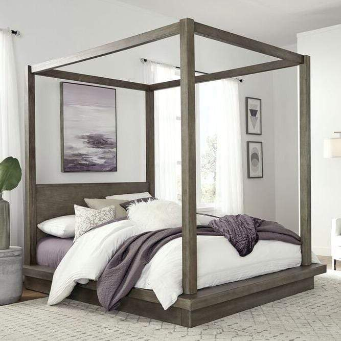 Melbourne Canopy Bed in Dark Pine - What A Room