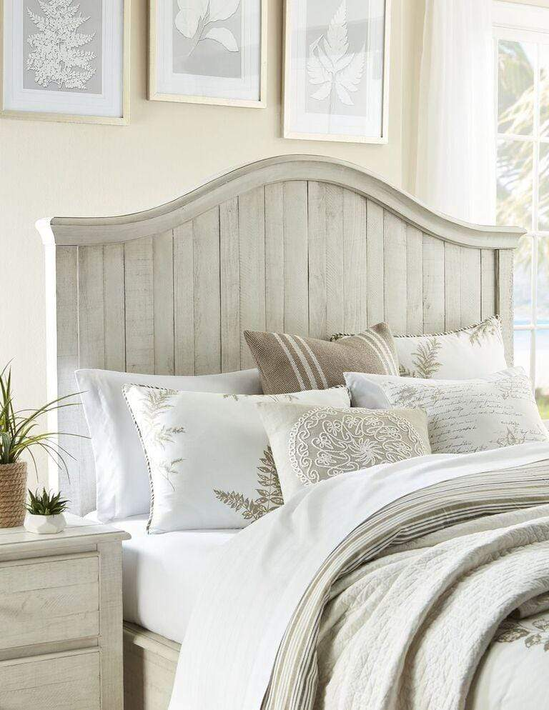 Ella Solid Wood Crown Bed in White Wash - What A Room Furniture