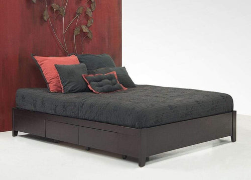 Simple Platform Storage Bed in Espresso - What A Room