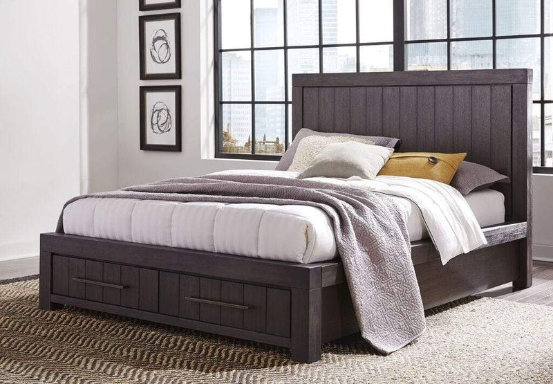 Heath Two Drawer Storage Bed in Basalt Grey - What A Room