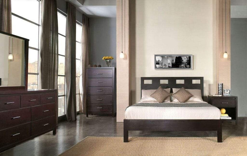 Nevis Riva Platform Bed in Espresso - What A Room