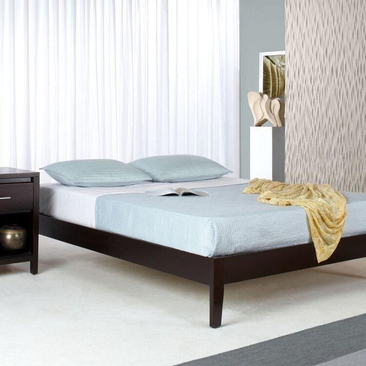 Nevis Simple Platform Bed in Espresso - What A Room