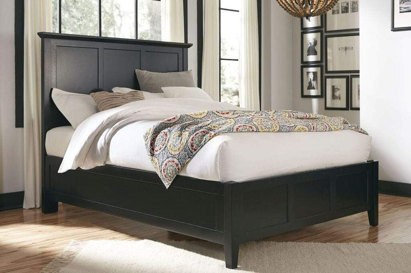 Paragon Panel Bed in Black - What A Room