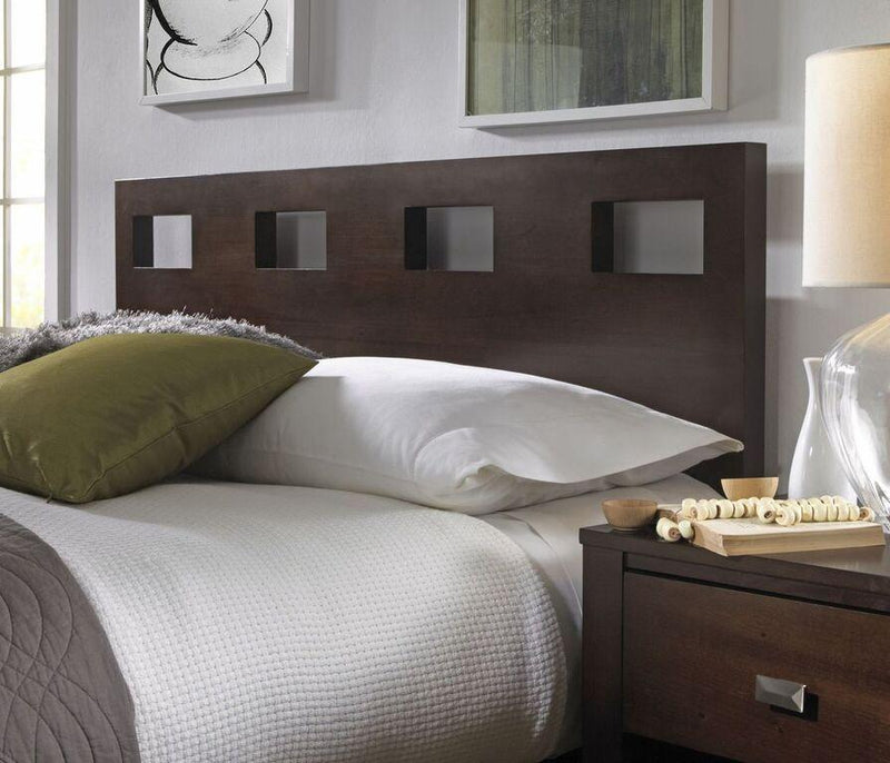 Riva Platform Bed in Chocolate Brown - What A Room