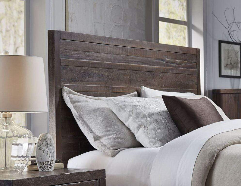 Townsend Solid Wood Panel Bed in Java - What A Room