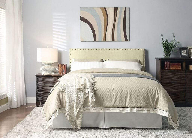 Tavel Nailhead Platform Bed in Tumbleweed - What A Room