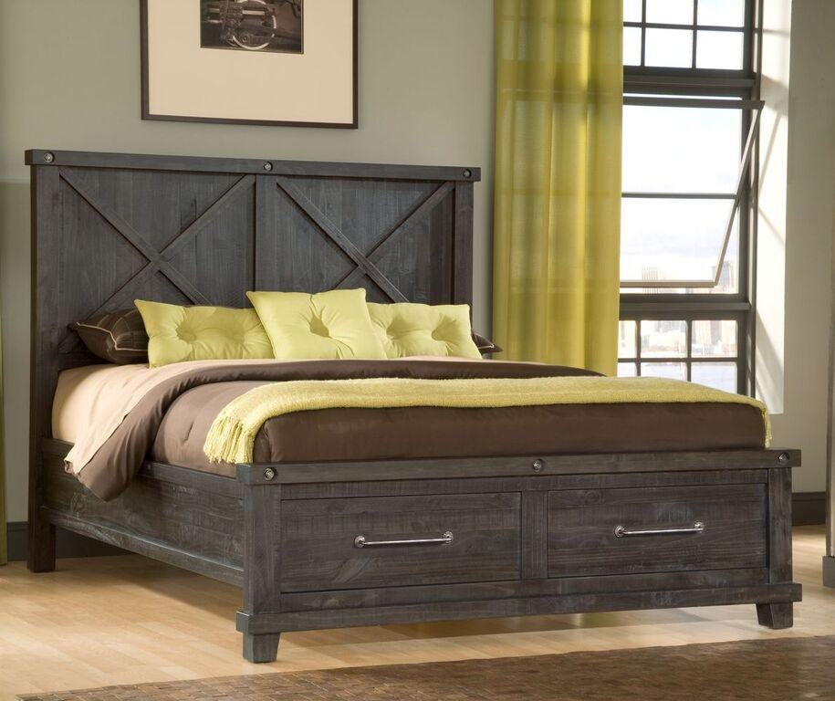 Yosemite Solid Wood Footboard Storage Bed in Cafe - What A Room Furniture