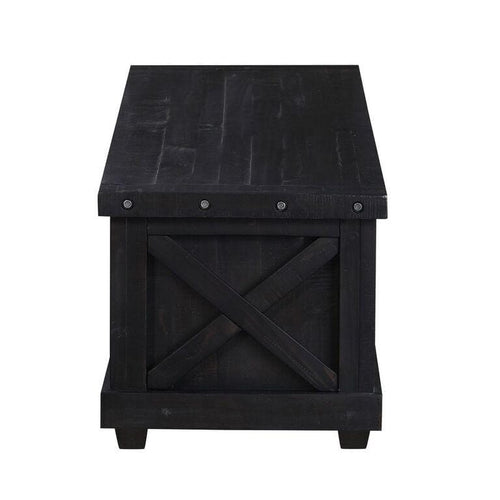 Yosemite Solid Wood Blanket Box in Cafe