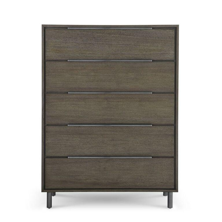 Berkeley Five Drawer Chest in Butcher Block - What A Room Furniture