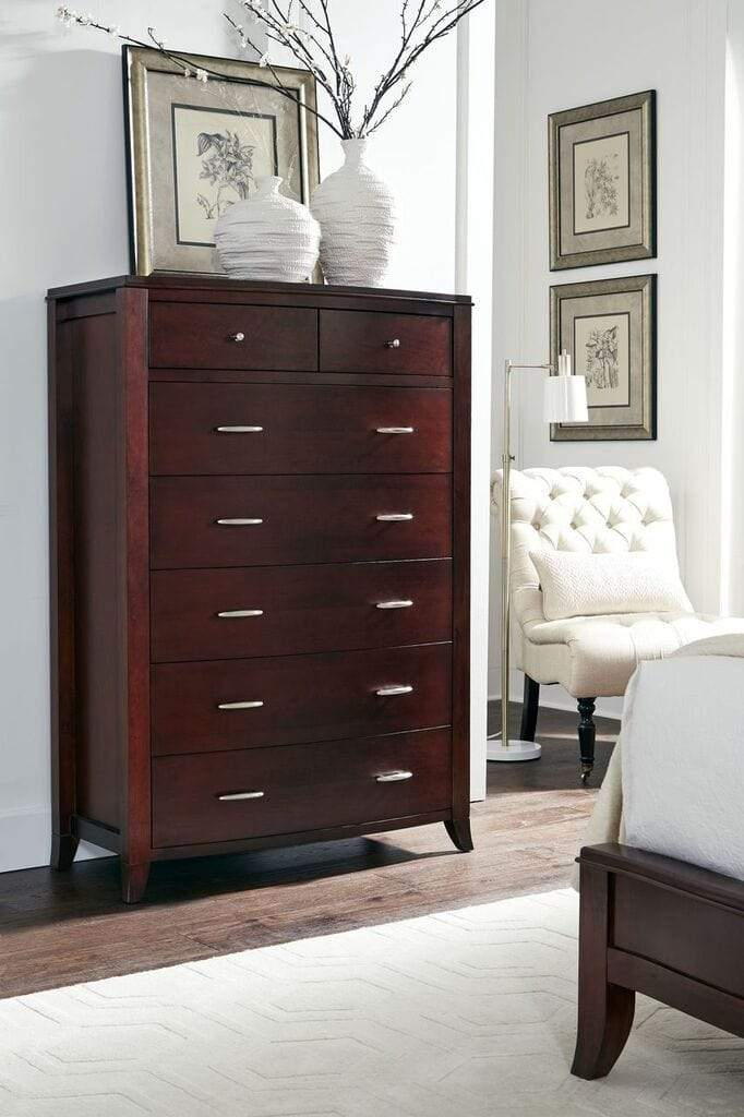 Brighton Seven Drawer Chest in Cinnamon