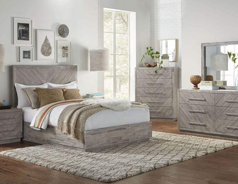 Alexandra Solid Wood Five Drawer Chest in Rustic Latte - What A Room