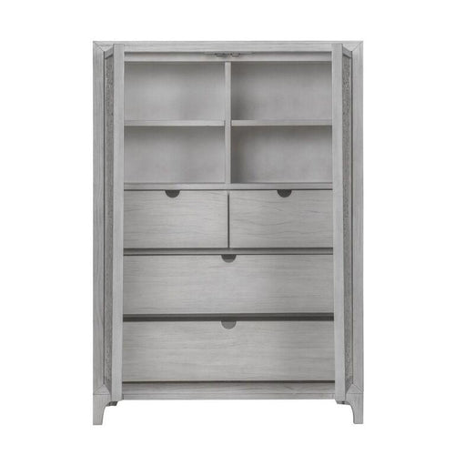 Boho Chic Wardrobe Chest in Washed White