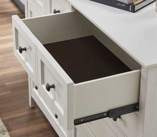 Paragon Five Drawer Chest in White