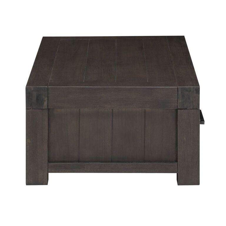 Heath Two Drawer Rectangular Coffee Table in Basalt Grey - What A Room Furniture