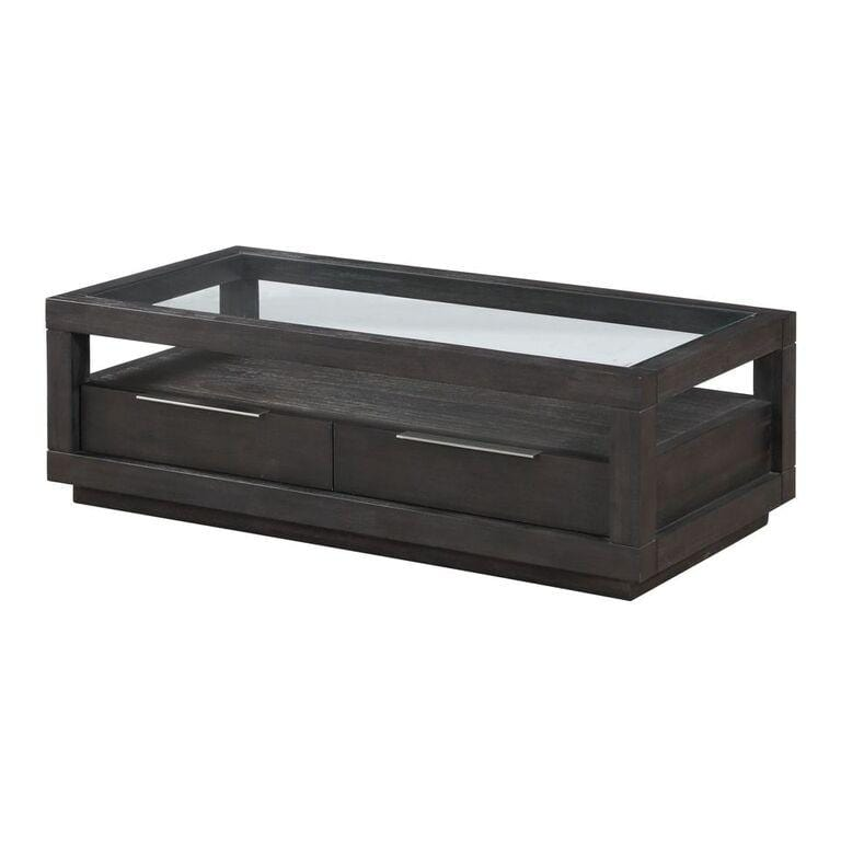 Reese Live Edge Rectangular Coffee Table in Natural Acacia