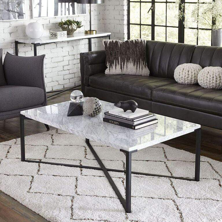 Saxon Coffee Table in Matte Black - What A Room Furniture