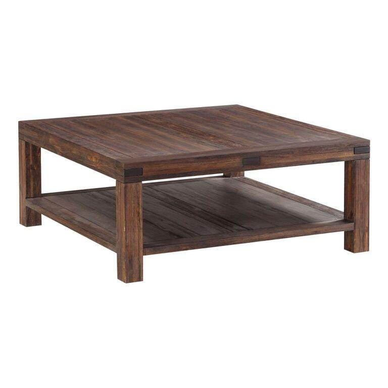 Meadow Solid Wood Square Coffee Table in Brick Brown - What A Room Furniture