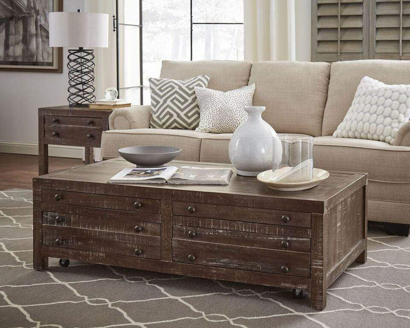 Townsend Solid Wood Castered Coffee Table in Java - What A Room