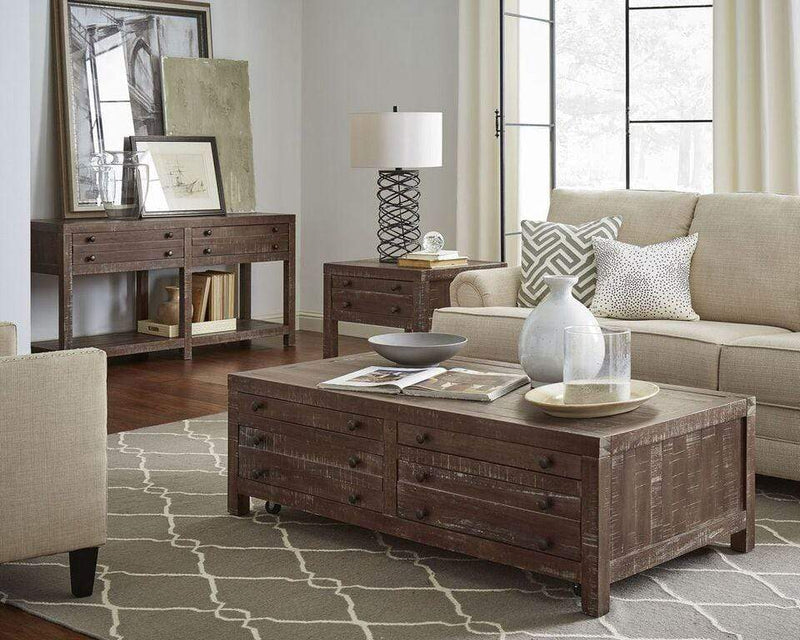 Townsend Solid Wood Castered Coffee Table in Java - What A Room Furniture