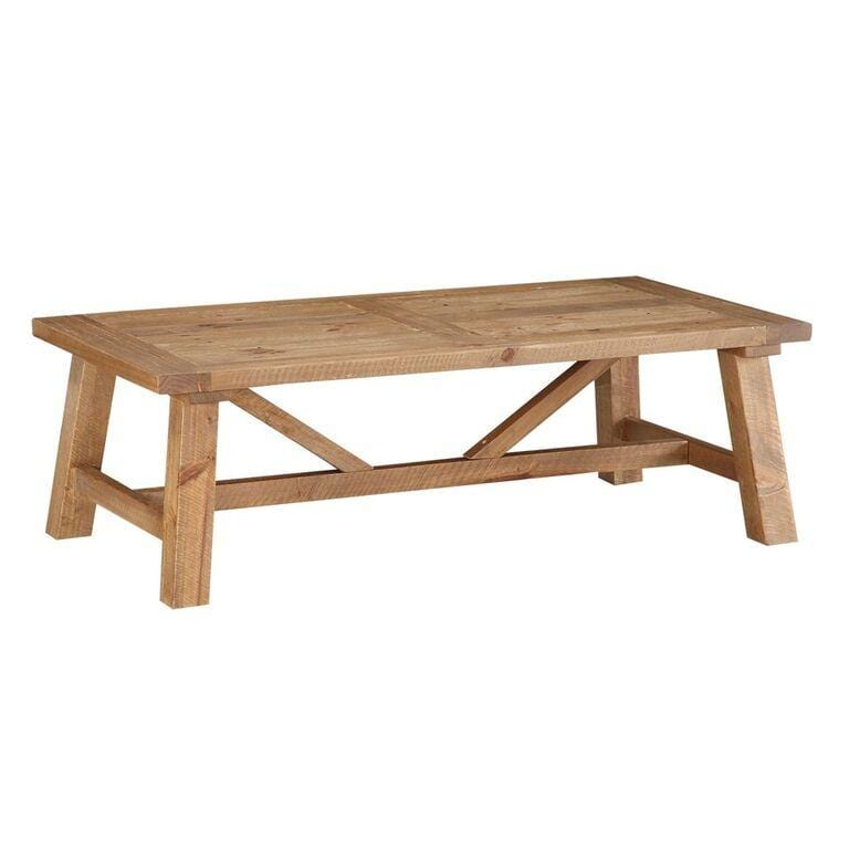 Harby Reclaimed Wood Rectangular Coffee Table in Rustic Tawny - What A Room Furniture