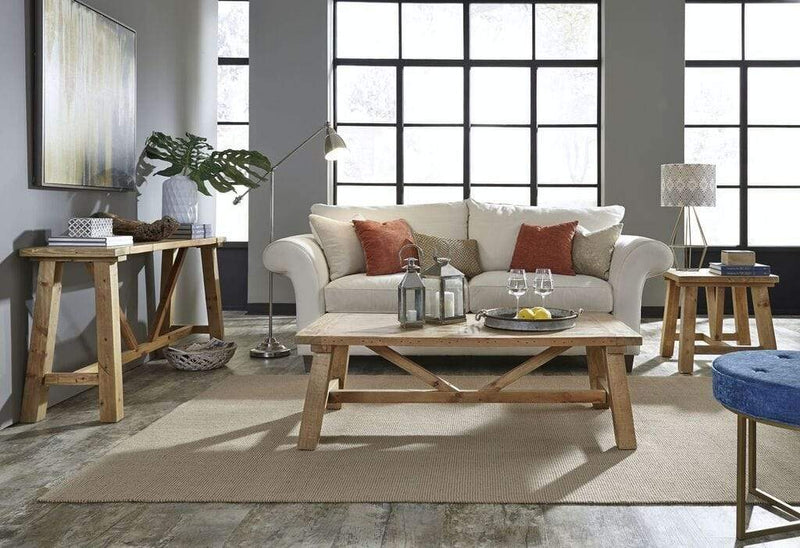Harby Reclaimed Wood Rectangular Coffee Table in Rustic Tawny - What A Room