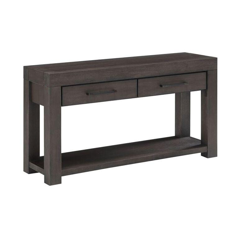 Heath Two Drawer Rectangular Console in Basalt Grey - What A Room Furniture