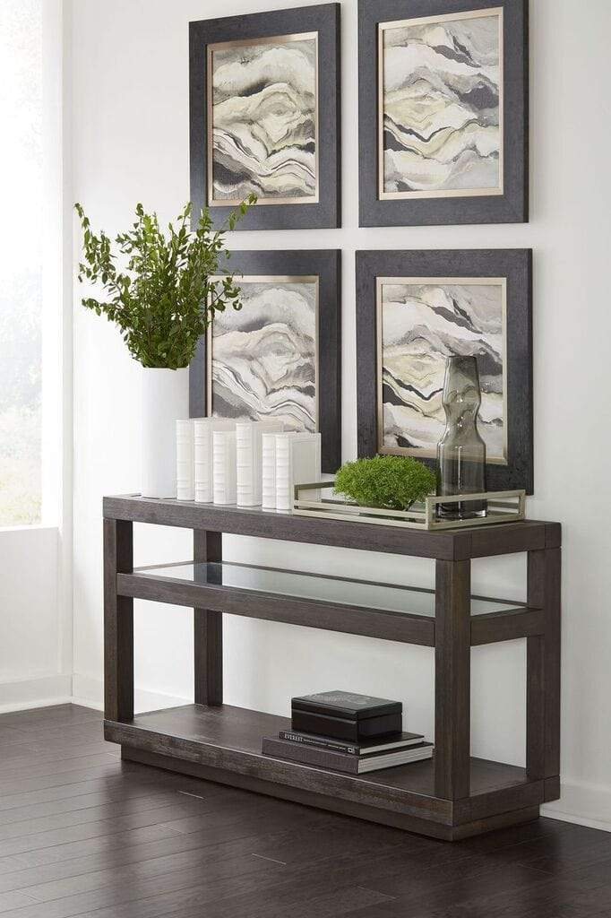Oxford Oxford Console Table in Basalt Grey - What A Room Furniture