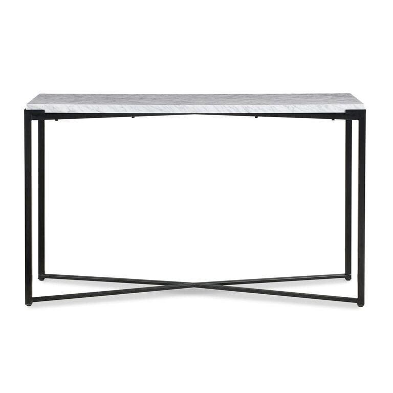 Saxon Console Table in Matte Black - What A Room Furniture
