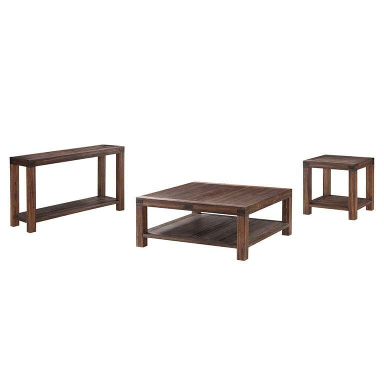 Meadow Solid Wood Console Table in Brick Brown - What A Room Furniture