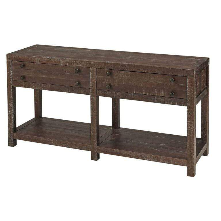 Reggie Geometric Console Table 2 Drawers