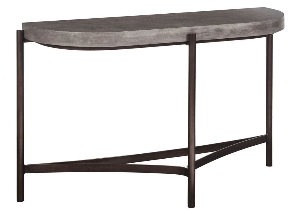 Lyon Semi-circular Concrete and Metal Console Table - What A Room Furniture