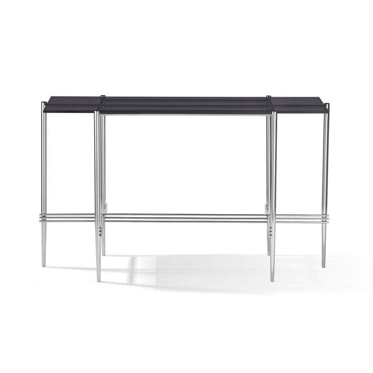 Cedric Smoked Glass Console Table - What A Room Furniture