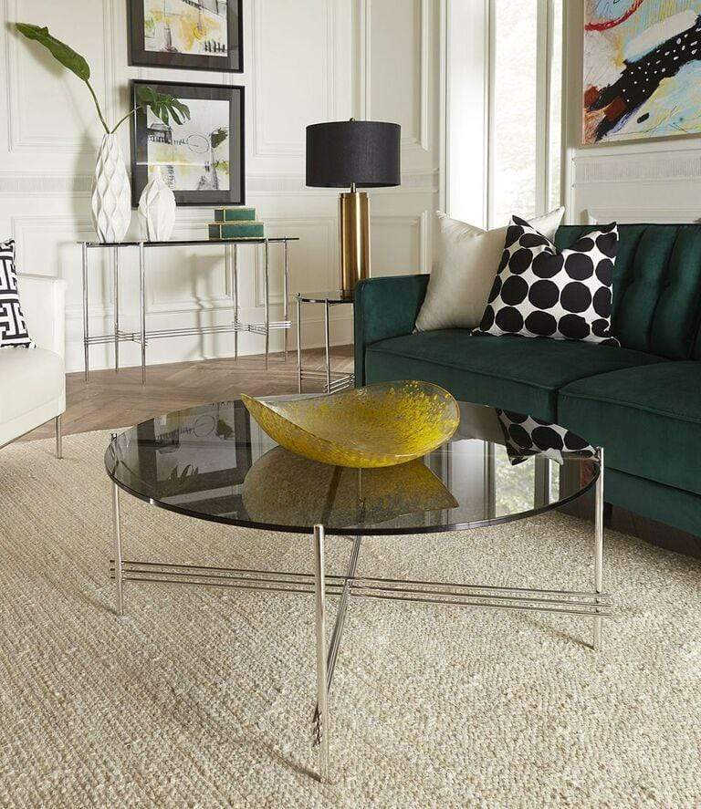 Cedric Smoked Glass Console Table