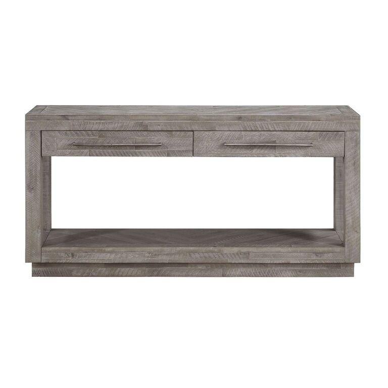 Alexandra Solid Wood Rectangular Console in Rustic Latte - What A Room Furniture