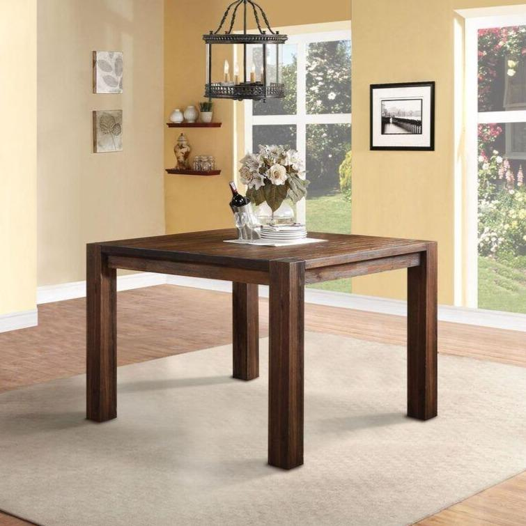Meadow Solid Wood Square Counter Table in Brick Brown - What A Room