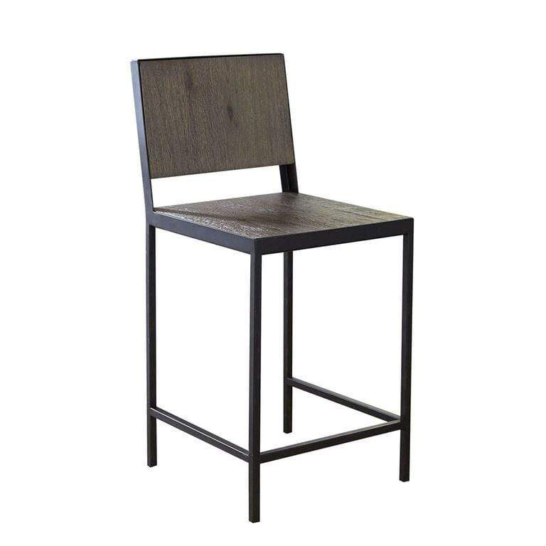 Darwin Fabric Bamboo Counter Stool
