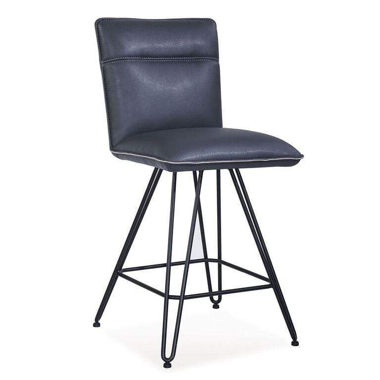 Demi Hairpin Leg Swivel Counter Stool in Cobalt - What A Room