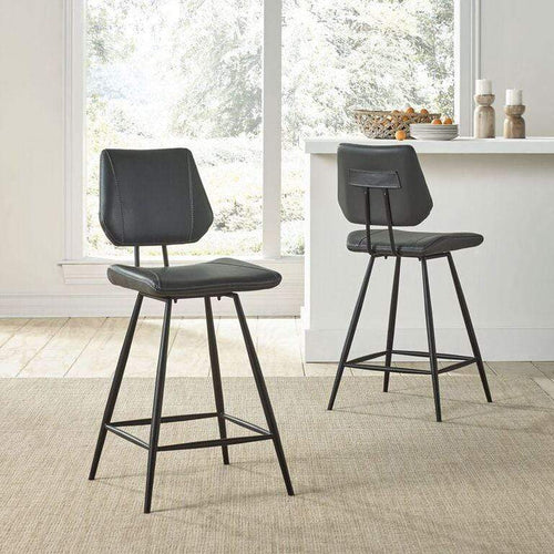 Vinson Modern Swivel Counter Stool in Cobalt - What A Room