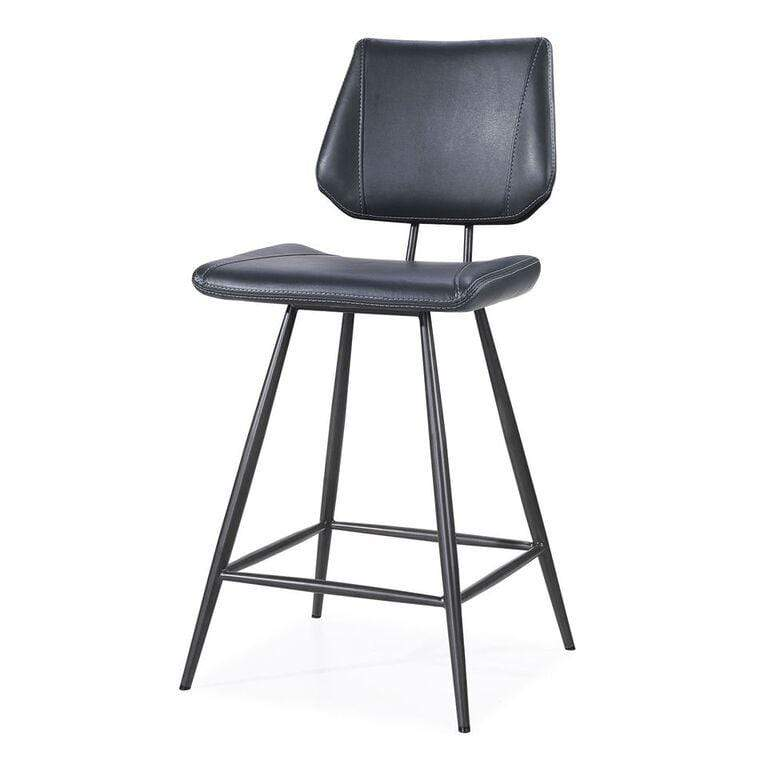Metropolis Metal Backless Bar Stool