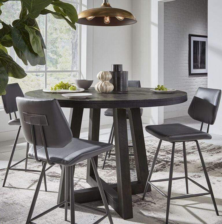 Vinson Modern Swivel Counter Stool in Cobalt - What A Room Furniture