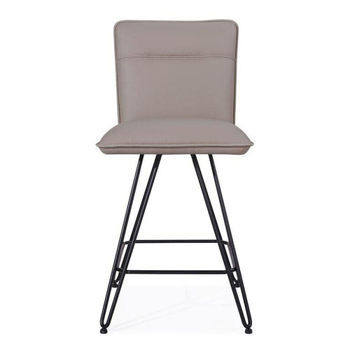 Demi Hairpin Leg Swivel Counter Stool in Taupe - What A Room